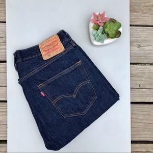 Levi's 501 Dark Wash Button Fly Jeans 33 x 34